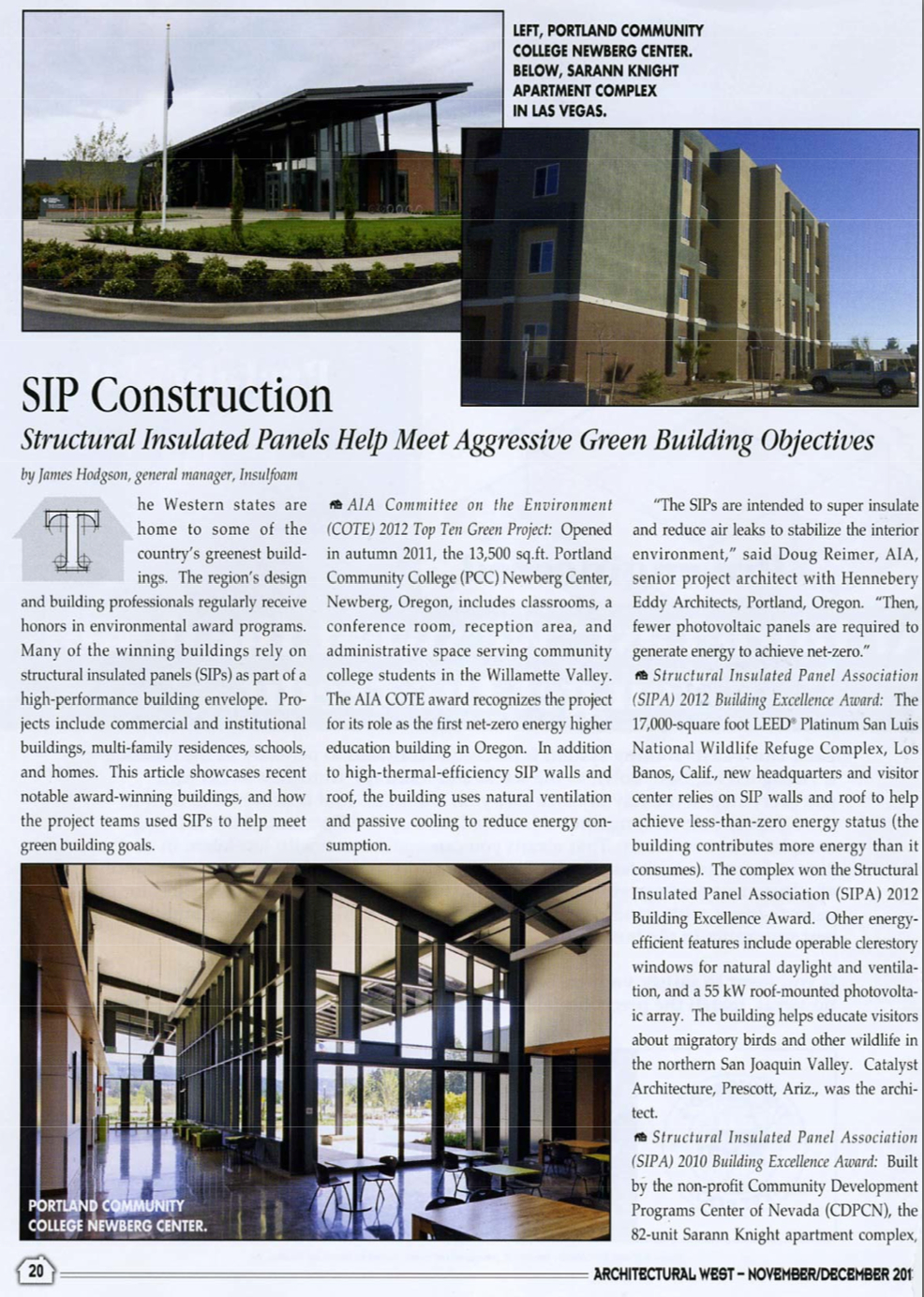 Green Building Awards Premier Sips Structural Insulated